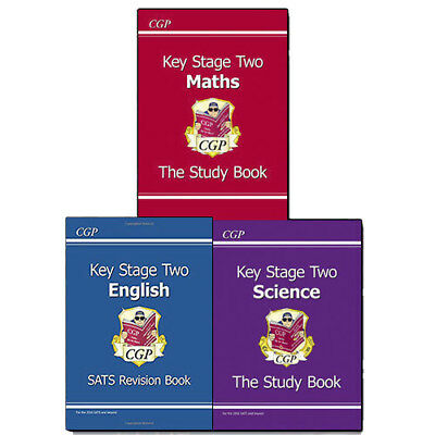New KS2 The Study Book Series 3 Books Collection Set,Maths,Science,Brand NEW