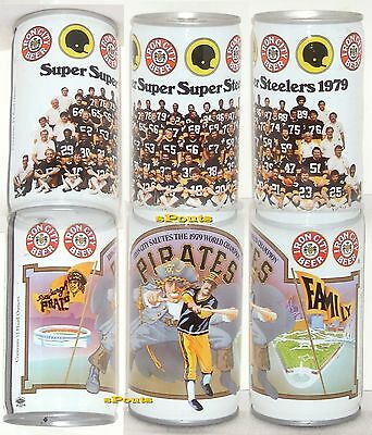 Pittsburgh Pirate-Steelers Family 1979 Beer Cans Iron City Baseball Nfl Football