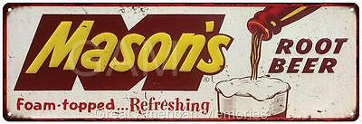 Mason's Root Beer Vintage Look Reproduction Metal 6x18 Sign 6180230