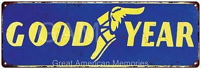 Good Year Vintage Look Reproduction Metal 6x18 Sign 6180240
