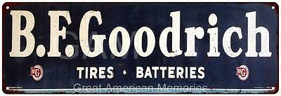 B.F. Goodrich Vintage Look Reproduction Metal 6x18 Sign 6180250