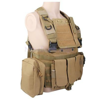 Tactical Vest / Airsoft Plate carrier Army Molle Vest Chest Rig Webbing NEW