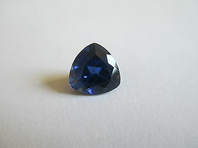 7.14ct Trillion Cut Lab Created Blue Sapphire Gemstone 12 x 12mm