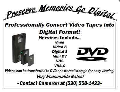 Professionally Transfer Video Tape into Digital Format (DVD or External Drive)!!