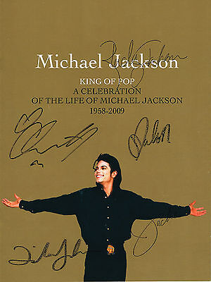 The Jacksons Hand Signed Autographed Michael Jackson Tribute 2009 Programme