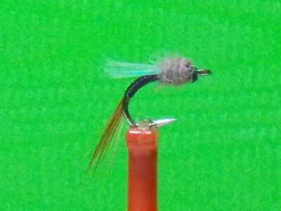 Hot Pattern size 20 Top Secret  Black Midge Emerger  Fly