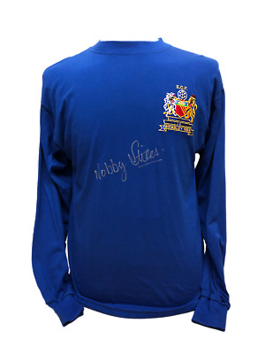 Nobby Stiles Signed Manchester United 68 European Cup Final Football Shirt Proof