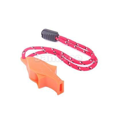 Marine Safety Whistle landyard Outdoor Survival Boating Camping Hiking Emergency