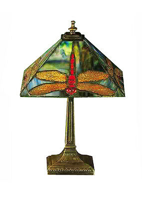 """Meyda Home Bedroom Decorative Lighting 15.5""""H Prairie Dragonfly Accent Lamp"""