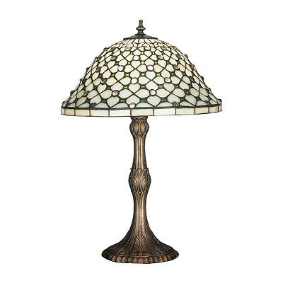 "Meyda Home Indoor Bedroom Decorative 20""H Diamond & Jewel Table Lamp"
