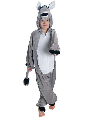 Childrens Unisex Donkey Costume Christmas Fancy Dress Nativity Jumpsuit Kids