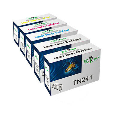 5 Toner Cartridges For Brother TN241 DCP-9020CDW HL-3140CW HL-3150CDW