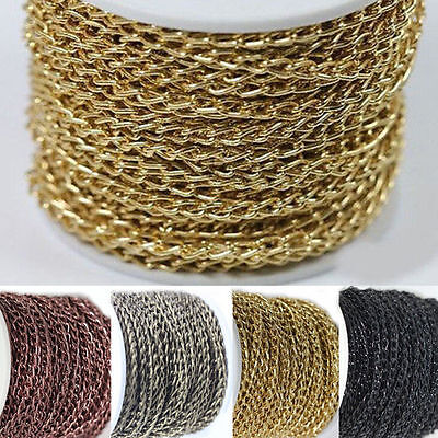 Wholesale 2/5/10M Cable Open Link Iron Metal Chain Jewelry Making Craft 6x4MM