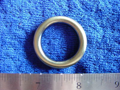 1 inch cast antique brass solid ring leather craft hardward purse sca larp
