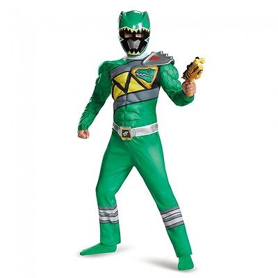 Power Rangers Dino Charge - Green Ranger Child Muscle Costume
