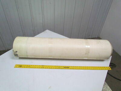2-ply White/Clear Urethane Smooth top conveyor belt 34ft x 47-1/4""