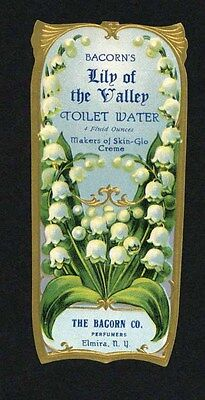 1900's BACORN'S LILY OF THE VALLEY TOILET WATER LABEL