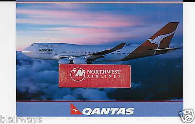 Qantas Airways Boeing 747-438 Above The Clouds At Sunrise Airline Issue Postcard