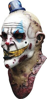 Mime Zack Adult Latex Mask Full Overhead Scary Costume Clown