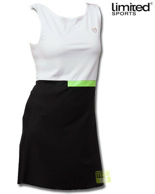 Limited Sports Damen Tenniskleid Vilja schwarz/weiß