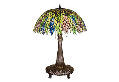 "Meyda Home Indoor Bedroom Decorative 31""H Tiffany Honey Locust Table Lamp"