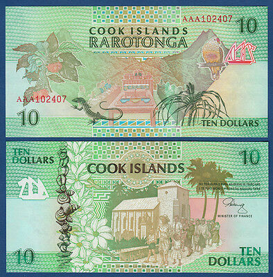 COOK ISLANDS 10 Dollars (1992)  UNC  P. 8