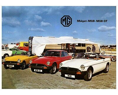 1980 MG Midget MGB & MGBGT Automobile Photo Poster zca2744