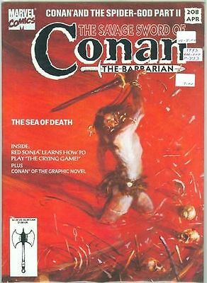 The Savage Sword of Conan #208 Marvel Comics '93 VF/NM