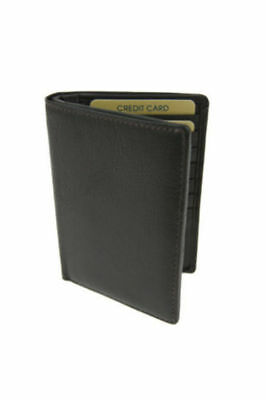 New Genuine Leather Mens Slim Wallet Credit Card Holder Full Grain Leather