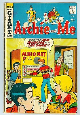 Archie and Me Giant Series #54 Archie Comics Publications February 1973 GD