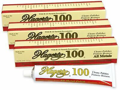 "Hagerty ""100"" All Metal Polish - 3-Pack (3 tubes) Works on Brass, Copper, More"