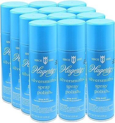 Hagerty Spray Silver Polish Case of 12 Cans - Cleans - Polishes - Protects