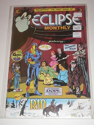 Eclipse Monthly #1 Statico VFNM Eclipse Comics Aug 1983