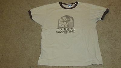 Vintage 1990's THREE'S COMPANY tv show shirt SUZANNE SOMERS John Ritter X-LARGE