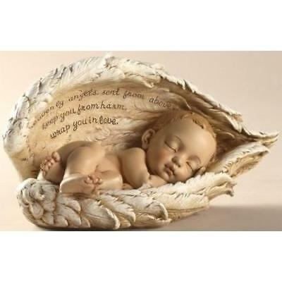 Sleeping Baby in Angel Wings New