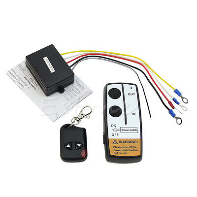 Hot 24V 50ft Winch Wireless Remote Control Set for Truck Jeep ATV Warn Ramsey