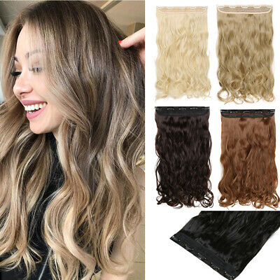 Real Thick Long Straight Curly Half Full Head Clip In Hair Extensions 5clip MW32
