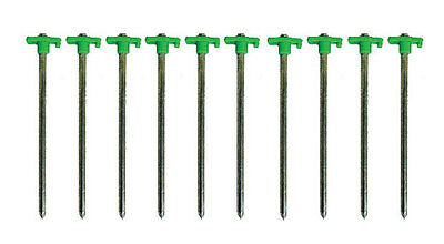 SupaGarden Rock Pegs 7mm x 255mm Set of 10 Heavy Duty Tent Pegs Awnings etc.