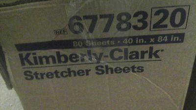"80 Kimberly Clark Stretcher Sheets 40"" X 84"" Disposable Blue Tissue Surgical New"