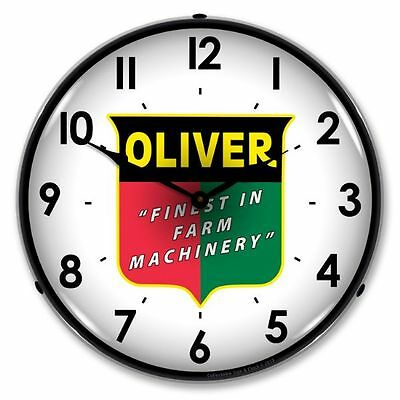 New Oliver Farm Machinery Retro Tractor Backlit Lighted Clock - Free Shipping*