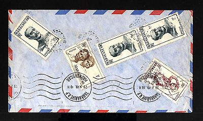 5967-MADAGASCAR-AIRMAIL COVER TANANARIVE to LYON (france)1949.french Colonies