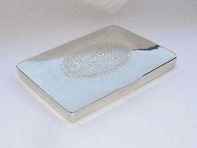 SPLENDID VINTAGE SOLID SOLID SILVER INDIAN ASIAN EASTERN PERSIAN BOX CASE c1930