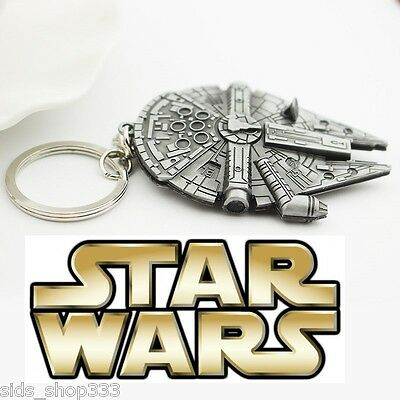 STAR WARS MILLINIUM FALCON Figurine metal replica keychain Key chain collectible