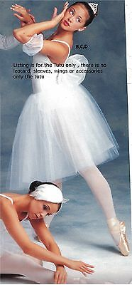 NWT White CHIFFON & TULLE  ROMANTIC MID LENGTH TUTUS CHILD ADULT #4918