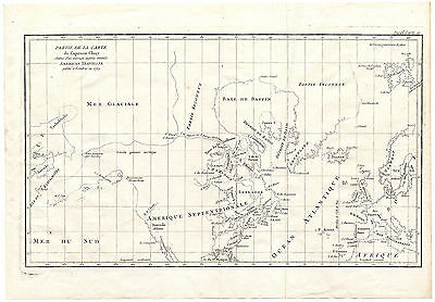 ANTIQUE MAP-NORTH AMERICA-EUROPE-CAPTAIN CLUNY-CANADA-USA-Diderot ...