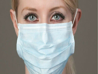 25 Disposable Quality Surgical Face Salon Cleaning Flu Dust Mask Earloop Ce Mark
