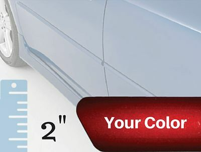 """Painted 2"""" Body Side Moulding Set for Fiat 124 Convertible (Factory Finish)"""