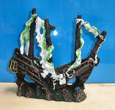 Galleon Ship Wreck Tall Ornament Decoration Aquarium Fish Tank Cave Hide