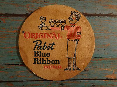 Beer Coaster <> Original Pabst Blue Ribbon Beer <> Milwaukee Wisconsin Brewery