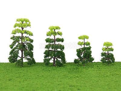 20x Green Model Pine Trees Railway Yard Architecture Scenery Layout Mixed 4 size
